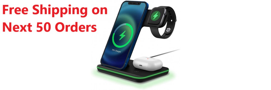3 IN 1 Wireless Charger Black