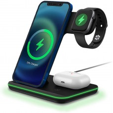 Wireless Charger 15W Fast Wireless Charger Stand 3 IN 1