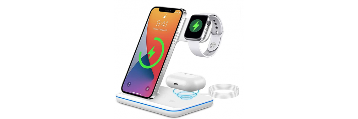 3 IN 1 Wireless Charger White